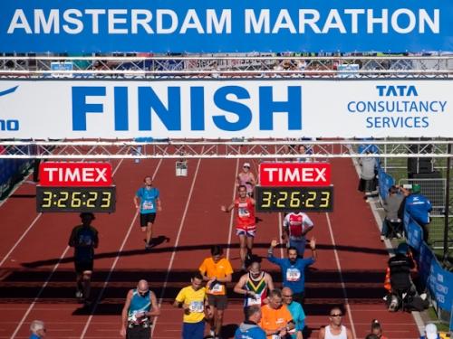 Amsterdam Maratonu 2011 finish anı