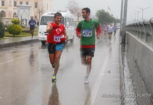 Adana yarı maratonundan bir görüntü