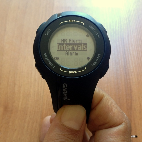 Garmin Forerunner 210 interval menüsü