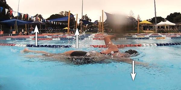 Yüzerken kafanın pozisyonu