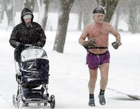 karda kışta koşmak