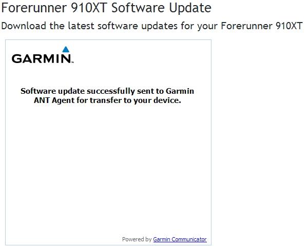Garmin update