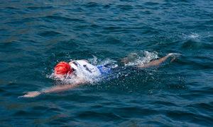 Eğirdir'de yüzerken