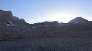 Yedigöller kamp alanında gün batımı
