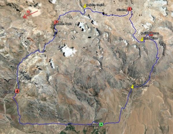 Aladağlar Sky Trail yarış rotası