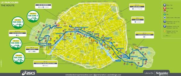 Paris Maratonu 2016 parkur