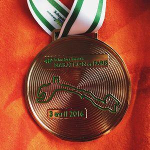 Paris maratonu madalya