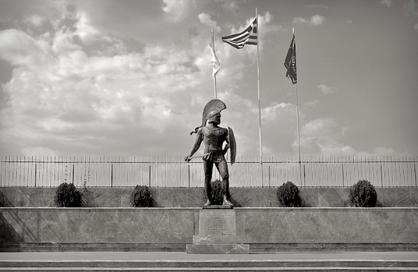 King Leonidas statue in Sparta Spartans